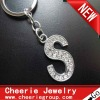 Zinc alloy Letter keyring with top quality plating(CK0105)