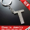Zinc alloy Letter keyring with top quality plating(CK0106)