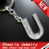 Zinc alloy Letter keyring with top quality plating(CK0107)