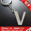 Zinc alloy Letter keyring with top quality plating(CK0108)