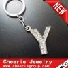Zinc alloy Letter keyring with top quality plating(CK0109)