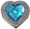acrylic stones heart shape handbag hanger