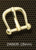 alloy roller pin buckle 15 mm