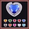 beautiful crystal heart shape bag holder