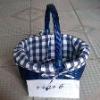 blue folding picnic  basket
