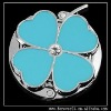 blue four leaf clover hand banger purse hook hanger holder