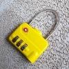 bright yellow TSA combination lock