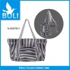 canvas handbag with stripe color