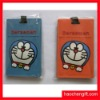 cartoon shape rubber pvc luggage tag