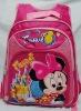cartoon student backpack pink girls schoolbags