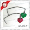 cheap metal heart handbag hook