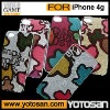 clear back cover for iphone 4 with fashion designs