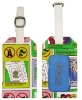colorful leather luggage tag/leather promotion gift