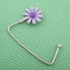 fashion bag hanger with purple flower charm