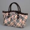 fashion genuine checked women bag