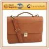 fashion leather business portfolio bag