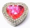 fashion metal crystal heart shape foldable bag hanger with diamond ZM-HC018.