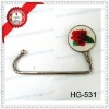 fashion metal silver plated alloy bag hook