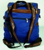 fashionable canvas backpack for ladies