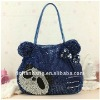 fashional pvc woven handbag