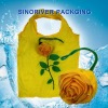 fast delivery rose flower  fruit shape recycle folding carry bag