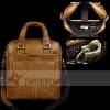for iPad 2 leather handbag,functional genuine leather bag with handles