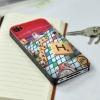 funny retro cover case for iphone 4 (the world game)