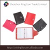 genuine leather card holder with transparent pvc inside