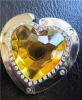 heart shaped bag hanger with crystal