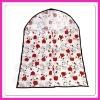 ladies nice flower fabric dress cover, folding PVC garment cover