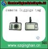 leather camera shape luggage tag