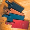 leather luggage travel tag