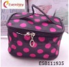 lovely round wholesale cosmetic bags with handle 2012