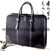 mens business leather handbag