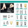 metal fittings for handbag and leather bag ZJ6671
