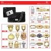 metal fittings for handbag and leather bag ZJ6675