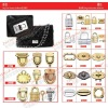 metal fittings for handbag and leather bag ZJ6685