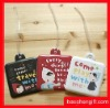 mini bag shape soft pvc bag tag-luggage tag