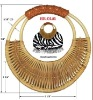 natural cane or bamboo handle for woman bags