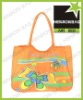orange butterfly printing air express bag