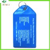 plastic Laggage Card for bag hanging