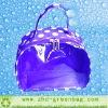 purple cosmetic bag
