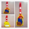 pvc soft rubber charming luggage tag for travel bag