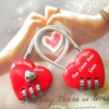 red heart shape combination luggage lock