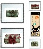 rose calico fabric cosmetic bags