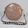 round leopard ladies handbags leather