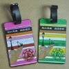 rubber promotion gift luggage address tag with coloured logo