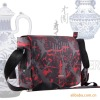 shoulder printed fabric laptop bag