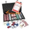 silver 300pcs aluminum poker chip case