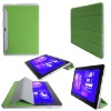 smart Cover Design Leather Case Cover For Samsung Galaxy Tab 10.1 P7510(Green Color)